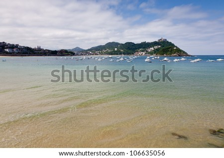 Beach of  de La Concha in San Sebastian