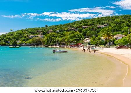 Beach of Ossos in Buzios, Rio de Janeiro. Brazil - stock photo