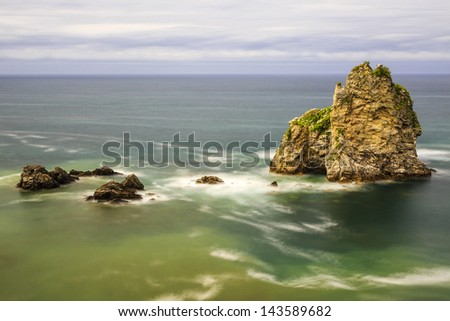 Beach of Pendueles, Asturias, Spain