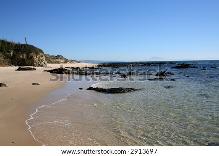 Beach of Punta Paloma, Spain - stock photo