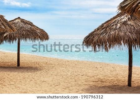 beach on a sunny day - stock photo