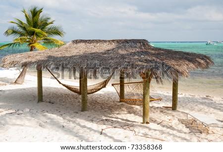 Beach on Little Cayman Island - stock photo