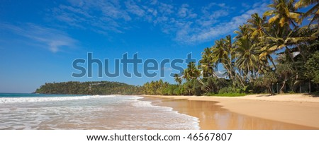 Beach panorama. Sri Lanka - stock photo