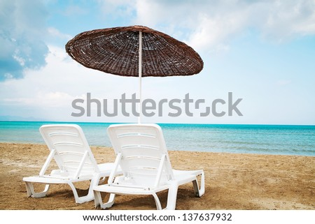 Beach.Paradise. Vacation and Tourism concept. - stock photo