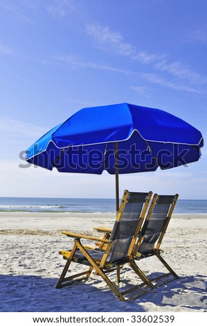 beach parasol - stock photo