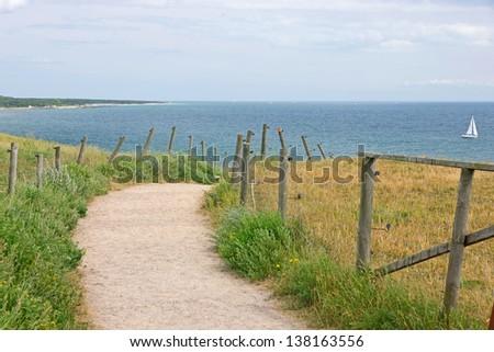 Beach path - stock photo