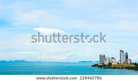 beach,pattaya - stock photo