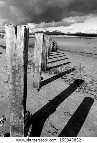 Beach Posts - stock photo