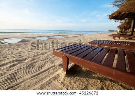 Beach resort chair in a resort