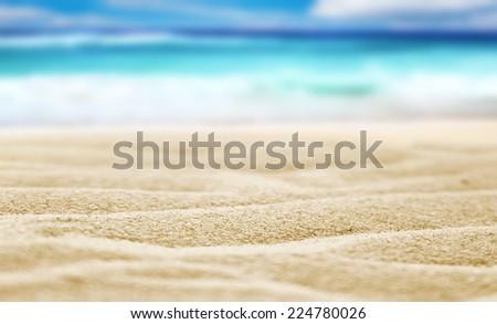 Beach sand - stock photo