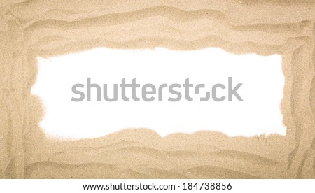 Beach sand scattering isolated on white background - stock photo