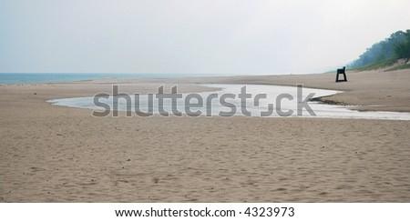 Beach Scene - Indiana Dunes, USA - stock photo