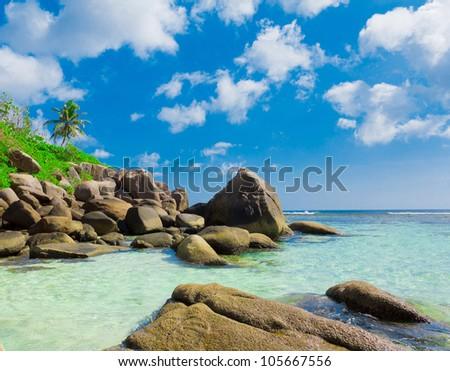 Beach Scene Seascape - stock photo