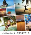Beach scenery - stock photo