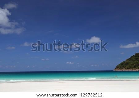 Beach scenery taken in Redang Island Malaysia - stock photo