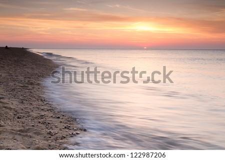 Beach scenes from Cape Cod - stock photo
