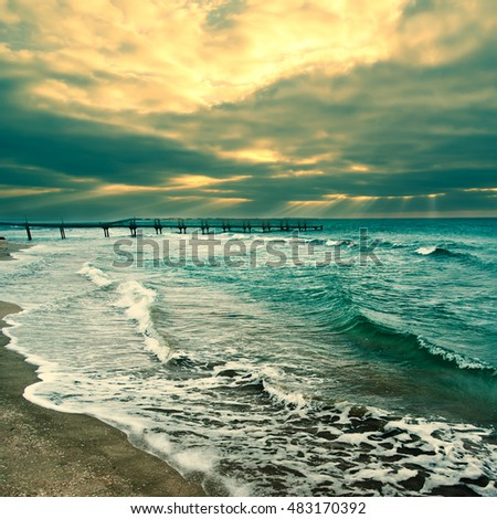 Beach, sea, landscape