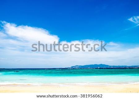 Beach, sea, seascape. Okinawa, Japan, Asia. - stock photo