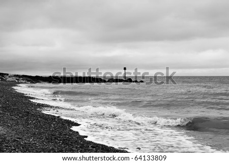 beach sea side images near herne bay in england - stock photo