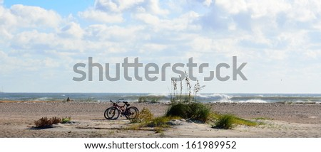 Beach Seascape St. Augustine, Florida - stock photo