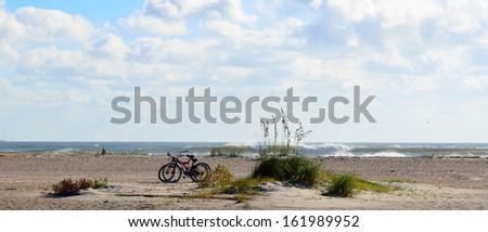 Beach Seascape St. Augustine, Florida - stock photo