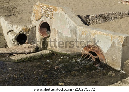 Beach sewers in San Francisco - stock photo