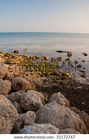 Beach shore in Key West Florida USA - stock photo