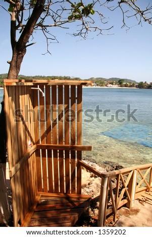 Beach Shower - stock photo