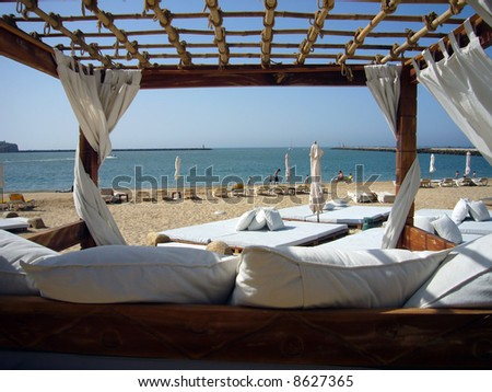 beach spa - stock photo
