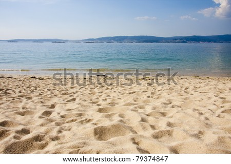 beach, Spain, Galicia, bueu - stock photo