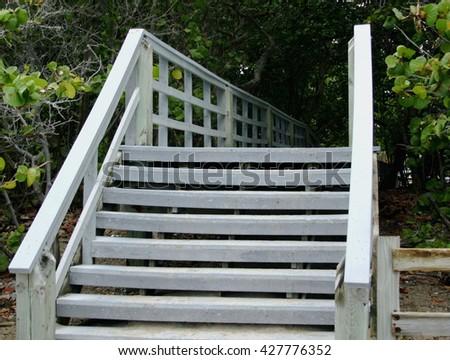 Beach Stairway - stock photo