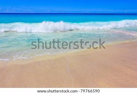 Beach Storm Tide - stock photo