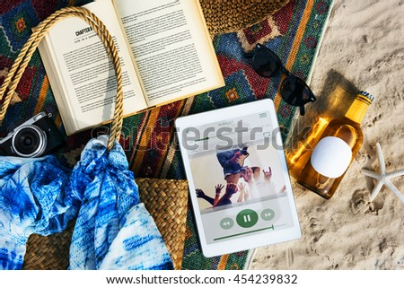 Beach Summer Holiday Vacation Journey Exploration Concept - stock photo