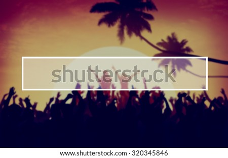 Beach Summer Music Concert Outdoors Recreational Pursuit Concept - stock photo