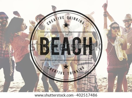 Beach Summer Time Vacation Holiday Relaxation Concept - stock photo