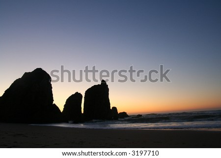 Beach sunset - stock photo