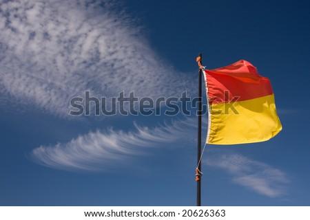 Beach Swimming Flag - stock photo