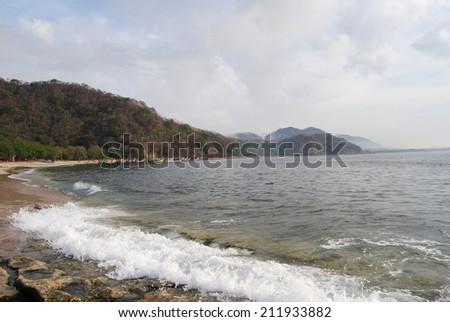 Beach, Tanjung Papuma Jember, Indonesia - stock photo