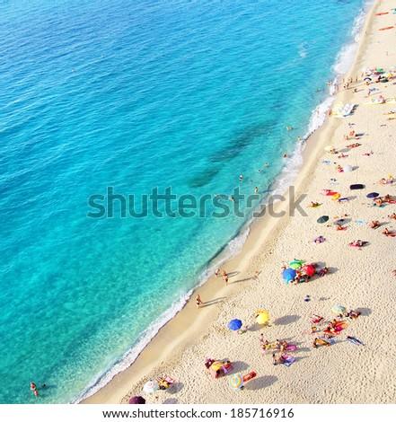 beach top view - stock photo