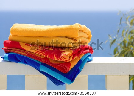 Beach Towels - stock photo