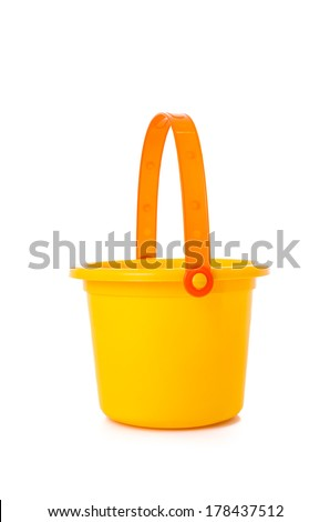Beach Toy Sand bucket isolated - stock photo