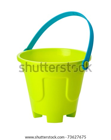 Beach Toy Sand Pail isolated with clipping path - stock photo