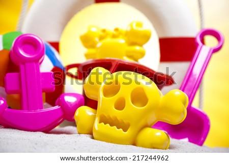 Beach toys, vacation  - stock photo