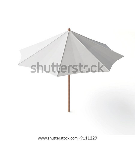 beach umbrella - stock photo