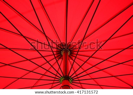 beach umbrella red