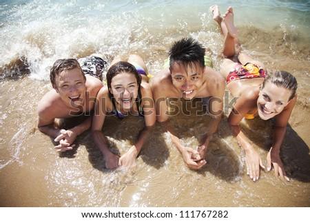beach vacation - stock photo