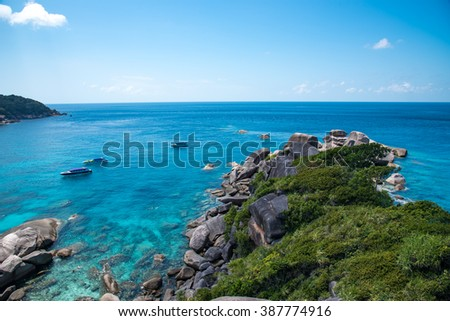 Beach view from similan island,Phang nga,Thailand - stock photo