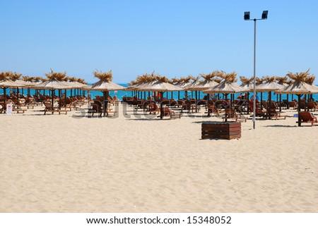 beach view in Golden Sands - Bulgaria - stock photo