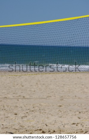 beach volley ball - stock photo