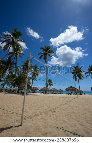 Beach volleyball in the Caribbean